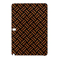 Woven2 Black Marble & Teal Leather (r) Samsung Galaxy Tab Pro 10 1 Hardshell Case by trendistuff