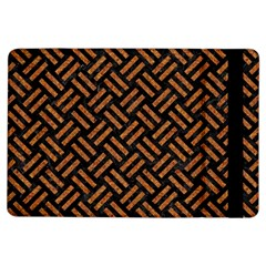 Woven2 Black Marble & Teal Leather (r) Ipad Air Flip by trendistuff