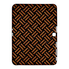 Woven2 Black Marble & Teal Leather (r) Samsung Galaxy Tab 4 (10 1 ) Hardshell Case  by trendistuff