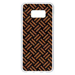Woven2 Black Marble & Teal Leather (r) Samsung Galaxy S8 Plus White Seamless Case by trendistuff