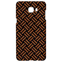 Woven2 Black Marble & Teal Leather (r) Samsung C9 Pro Hardshell Case  by trendistuff