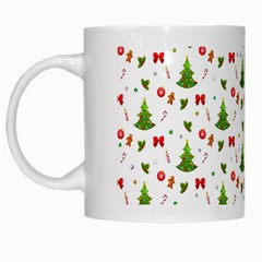Christmas Pattern White Mugs by Valentinaart