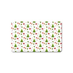 Christmas Pattern Magnet (name Card)