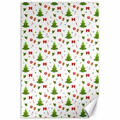Christmas Pattern Canvas 24  X 36  by Valentinaart