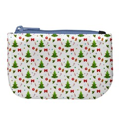 Christmas Pattern Large Coin Purse by Valentinaart