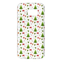 Christmas Pattern Samsung Galaxy S7 Edge Hardshell Case by Valentinaart