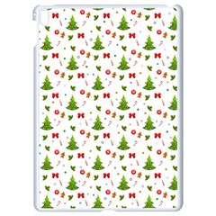 Christmas Pattern Apple Ipad Pro 9 7   White Seamless Case by Valentinaart