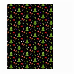 Christmas Pattern Large Garden Flag (two Sides) by Valentinaart