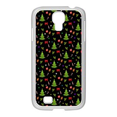 Christmas Pattern Samsung Galaxy S4 I9500/ I9505 Case (white) by Valentinaart