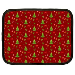 Christmas Pattern Netbook Case (xl)  by Valentinaart