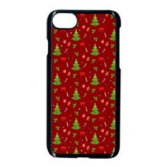 Christmas Pattern Apple Iphone 8 Seamless Case (black)