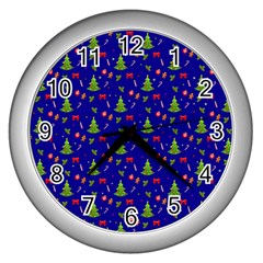 Christmas Pattern Wall Clocks (silver)