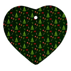 Christmas Pattern Ornament (heart) by Valentinaart