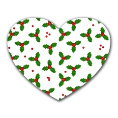 Christmas Pattern Heart Mousepads by Valentinaart