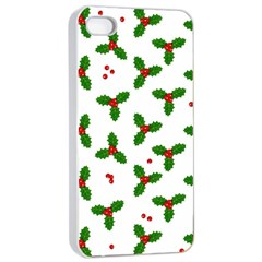 Christmas Pattern Apple Iphone 4/4s Seamless Case (white) by Valentinaart