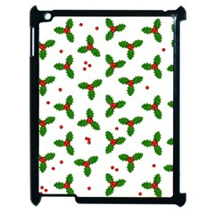 Christmas Pattern Apple Ipad 2 Case (black) by Valentinaart