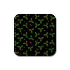 Christmas Pattern Rubber Square Coaster (4 Pack)  by Valentinaart