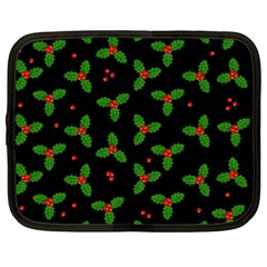 Christmas Pattern Netbook Case (large) by Valentinaart