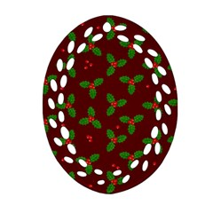 Christmas Pattern Ornament (oval Filigree)