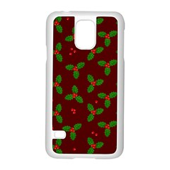 Christmas Pattern Samsung Galaxy S5 Case (white) by Valentinaart
