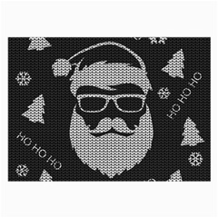 Ugly Christmas Sweater Large Glasses Cloth (2 Side) by Valentinaart