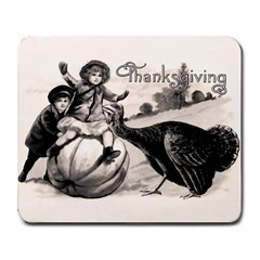 Vintage Thanksgiving Large Mousepads by Valentinaart