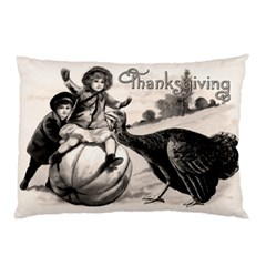 Vintage Thanksgiving Pillow Case by Valentinaart