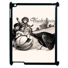 Vintage Thanksgiving Apple Ipad 2 Case (black) by Valentinaart