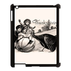 Vintage Thanksgiving Apple Ipad 3/4 Case (black) by Valentinaart