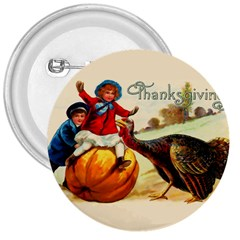 Vintage Thanksgiving 3  Buttons by Valentinaart