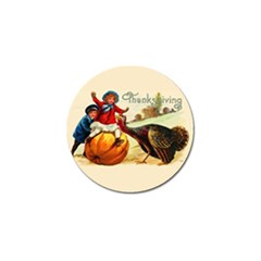 Vintage Thanksgiving Golf Ball Marker by Valentinaart