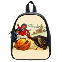 Vintage Thanksgiving School Bag (small) by Valentinaart