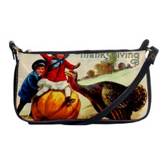 Vintage Thanksgiving Shoulder Clutch Bags by Valentinaart