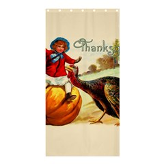 Vintage Thanksgiving Shower Curtain 36  X 72  (stall)  by Valentinaart