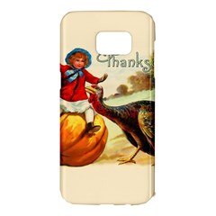 Vintage Thanksgiving Samsung Galaxy S7 Edge Hardshell Case
