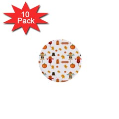 Thanksgiving 1  Mini Buttons (10 Pack)  by Valentinaart