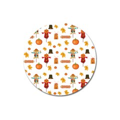 Thanksgiving Magnet 3  (round)