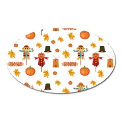 Thanksgiving Oval Magnet by Valentinaart