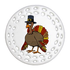 Thanksgiving Turkey  Ornament (round Filigree)