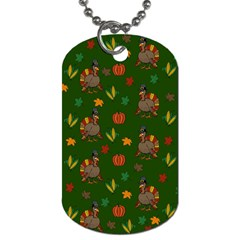 Thanksgiving Turkey  Dog Tag (one Side) by Valentinaart