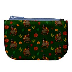 Thanksgiving Turkey  Large Coin Purse