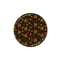 Thanksgiving Turkey  Hat Clip Ball Marker (4 Pack)