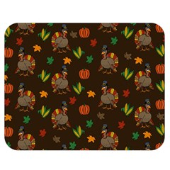 Thanksgiving Turkey  Double Sided Flano Blanket (medium)