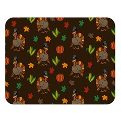 Thanksgiving Turkey  Double Sided Flano Blanket (large)