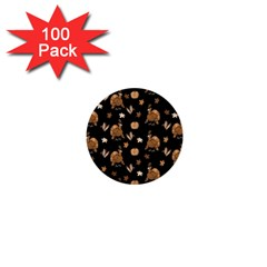 Thanksgiving Turkey  1  Mini Buttons (100 Pack)  by Valentinaart