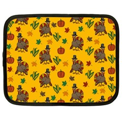 Thanksgiving Turkey  Netbook Case (xxl)  by Valentinaart