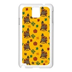 Thanksgiving Turkey  Samsung Galaxy Note 3 N9005 Case (white) by Valentinaart