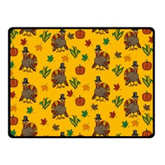Thanksgiving Turkey  Double Sided Fleece Blanket (small)