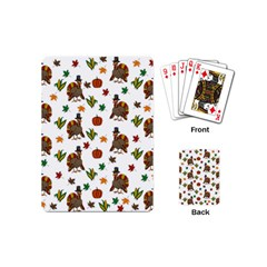 Thanksgiving Turkey  Playing Cards (mini)