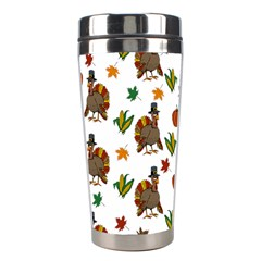 Thanksgiving Turkey  Stainless Steel Travel Tumblers by Valentinaart